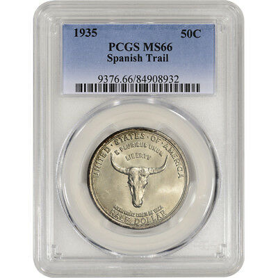 1935 US Old Spanish Trail Commemorative Silver Half Dollar 50C - PCGS MS66