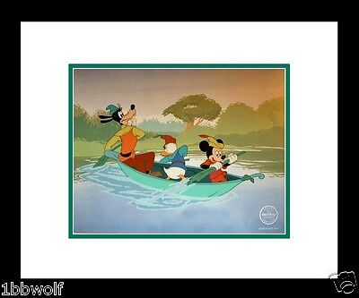 Mickey Goofy Donald Mickey Beanstalk Disney Sericel NEW Frame DELUXED Background
