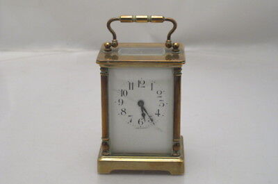 Vintage Antique Brass French Carriage Clock