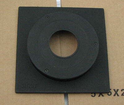 genuine Sinar F & P  lens board panel with 18.5mm top hat compur copal 1 hole