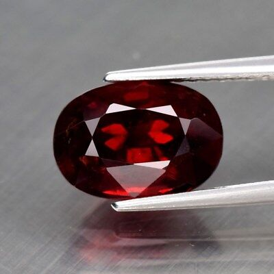 3.34ct 10x7mm Oval Natural Red Spinel, M'GOK