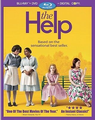 THE HELP New Sealed Blu-ray + DVD + Digital Copy