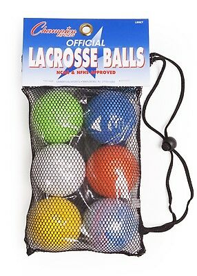 Champion Lacrosse Ball Set Official (x6) NFHS NCAA Mobility Massage Therapy-SET