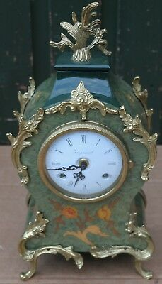 Beautiful & Fancy Looking Franz Hermle Mantel Clock With Gilt Metal Fittings