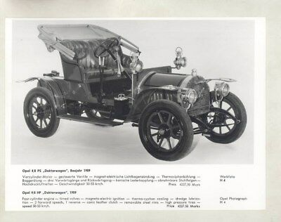 1909 Opel 4/8HP ORIGINAL Factory Photograph wy5353