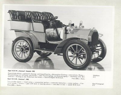 1902 Opel 10/12HP ORIGINAL Factory Photograph wy5354