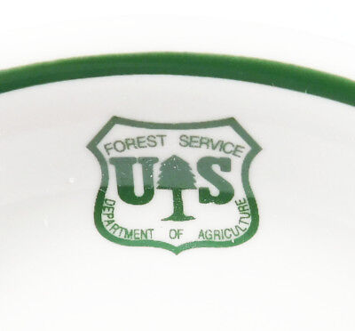 U.S.  FOREST SERVICE  (DEPT. of AGRICULTURE):   COFFEE  SAUCER