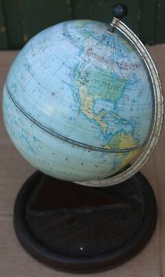 Old Scruffy Looking Metal Chad Valley Tin Globe To Tidy Up