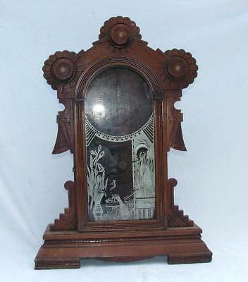 ANTIQUE 19th CENTURY WOODEN CLOCK CASE BY L. GILBERT CLOCK COMPANY