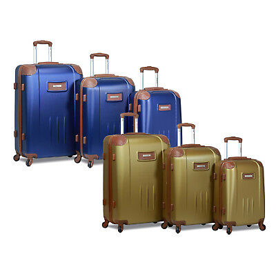 Dejuno Quest 3-Piece Hardside Spinner Luggage Set with TSA Lock