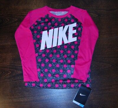Girls Nike athletic shirts long sleeve dri-fit new with tags $28 price