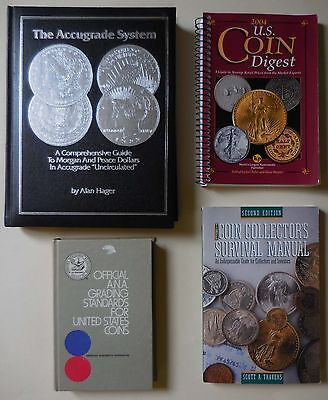Quantity of 4 Coin Collecting Books #70d