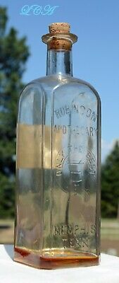 COCAINE antique J.S. ROBINSON APOTHECARY bottle EMBOSSED w/ COCAINE label