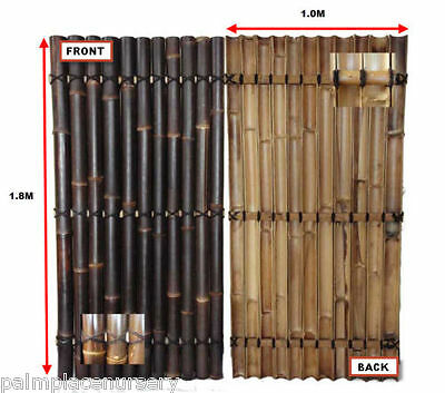 BAMBOO FENCING PANEL SCREEN FENCE BULK PACK x10 (1.8m x 1m)
