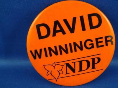 David Winninger Ndp Party Ontario Canada Election Campaign Collector Button