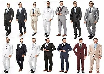 Formal Prom Wedding Party Groom Tuxedos Business Men's Two Button Suits Slim Fit