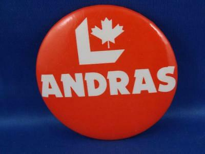 Andras  Liberal Party Canada Election Campaign Collector Button Pin Back