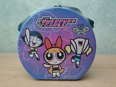 Powerpuff Girls Tin Metal Purse Lunchbox w/ Adjustable Shoulder Strap NEW