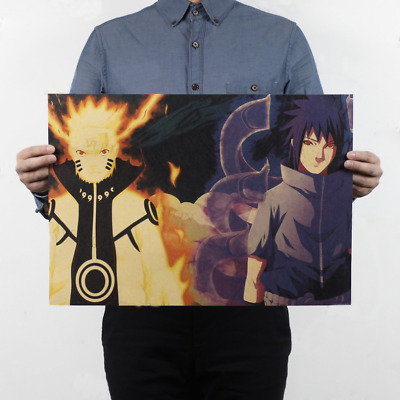 Japan Anime Naruto Shippuden Characters Wall Poster Wall Decals Kraft Paper Post