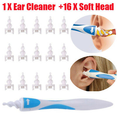 Smart Ear Wax Cleaner Removal Smart Swab Earwax Remover Spiral Safe Soft Tool