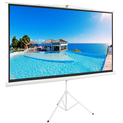 """100"""" Tripod Portable Projector Projection Screen 16:9 White Foldable Stand"""