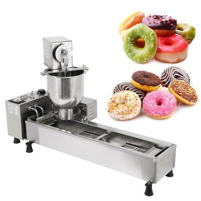 Commercial Automatic Donut Maker Making Machine Wide Oil Tank 3 Size Mold
