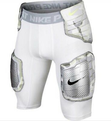 Nike Pro Combat Hyperstrong Football Shorts White Camo Hard Plate Padded NWT L