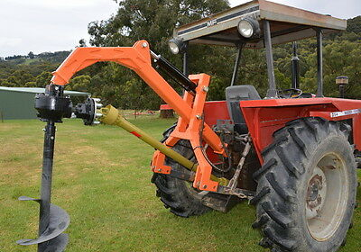 Tractor 3 Point Linkage 35hp PTO Post Hole Digger Auger 3PL ~ Hydraulic Assist