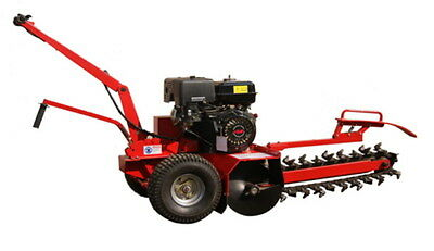 """Trencher Walk Behind Digger 24"""" Depth 15HP Petrol Engine Ditch or Trench Witch"""