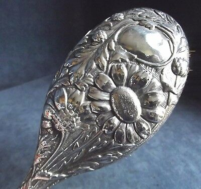 """SUPERB 10"""" ~ ART NOUVEAU ~ SOLID SILVER ~ BRUSH ~ Bham 1905 by Henry Williamson"""