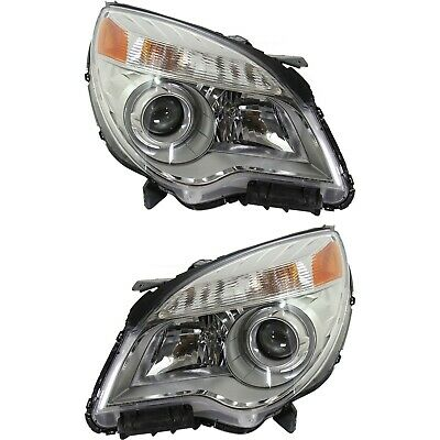 Halogen Model 2010-2015 Chevy Equinox Projector Headlights Headlamps Left+Right