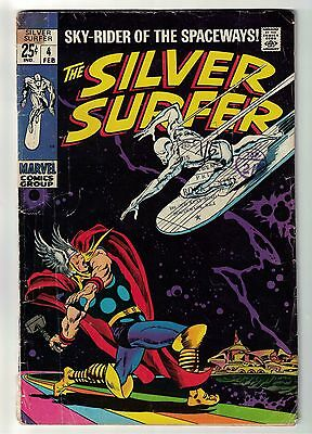 Marvel comics Silver Surfer 4 Battles Thor VG- 3.5