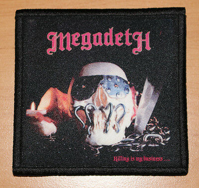 """MEGADETH """"KILLING IS MY BUSINESS"""" silk screen PATCH"""