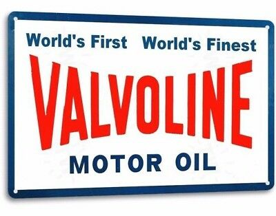 VALVOLINE MOTOR OIL Vintage Retro Tin Metal Sign