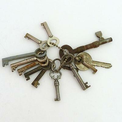 Bunch Of Antique 13 Small Cabinet Drawer Keys
