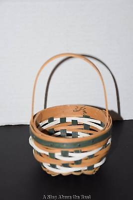Longaberger '17 Tree Trimming Snow Ball Basket in WB & Bold Green #1355936 N