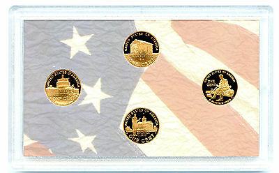 2009 S Us Mint Cent Proof 4 Coin Bicentennial Set Copper - No Box Coa