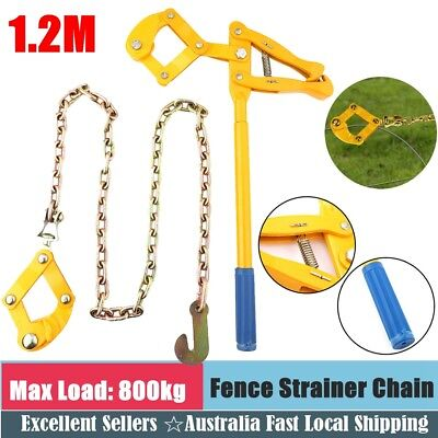 Wire Fence Strainer Plain Barbed 1.2m Chain Fencing Repair Pulling Tool AU Stock