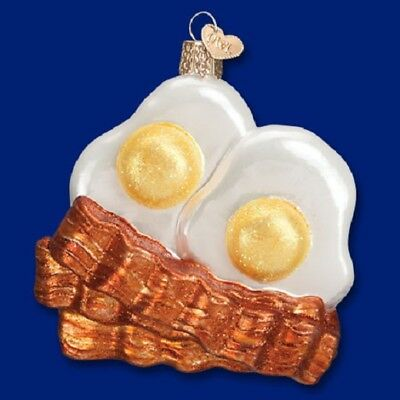Old World Christmas Bacon and Eggs Breakfast Glass Ornament 32210 FREE BOX