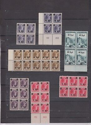 lot  107  Luxembourg  Germany occupation MNH selection