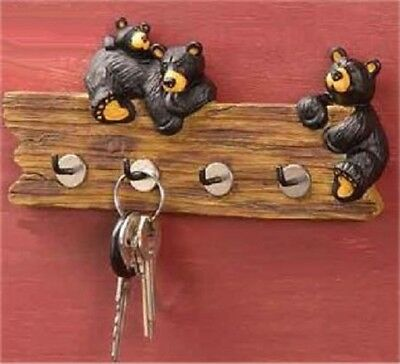 Jeff Fleming Bearfoots Whimsical Bears On Key Holder Caddy Home Decoration