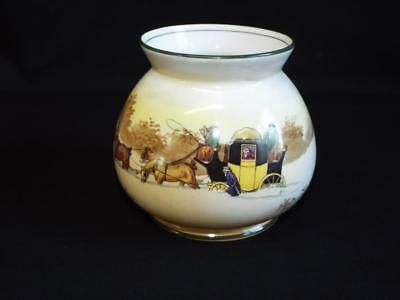 Vintage Royal Doulton bone china Coaching Days vase.