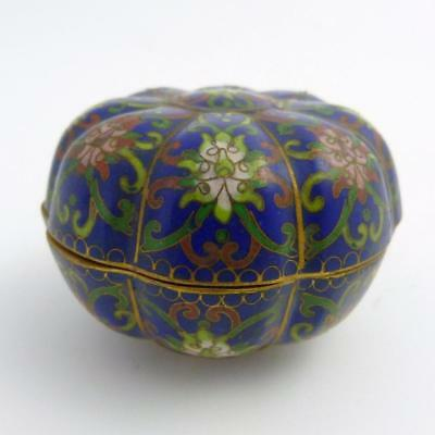 Chinese Cloisonne Seal Paste Box