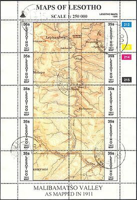 Lesotho 1996 Maps/Map-making/Geography/Cartography/History 3 x shts VFU (s461j)