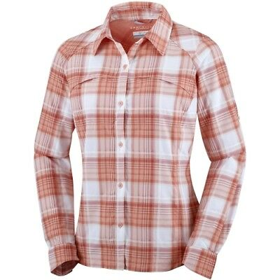 Columbia Silver Ridge Plaid L/S Shirt women light coral dobby plaid Hemdbluse