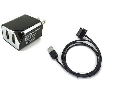 2.1A Wall AC Home Charger+USB for Samsung Galaxy Note 10.1 LTE SCH-i925U Tablet
