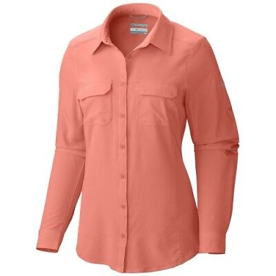 Columbia Saturday Trail III L/S Shirt women lychee Damenbluse Hemdbluse apricot