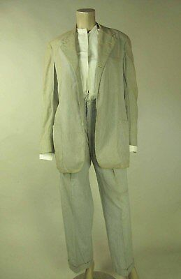 Vintage 1940's Men's Seersucker Suit By Haspel Of New Orleans