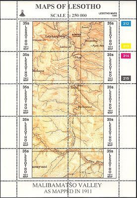Lesotho 1996 Maps/Map-making/Geography/Cartography/History 3 x 10v shts (s461d)