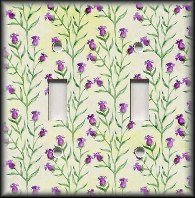 Metal Light Switch Plate Cover - Purple Bell Shaped Flowers Decor Floral Decor